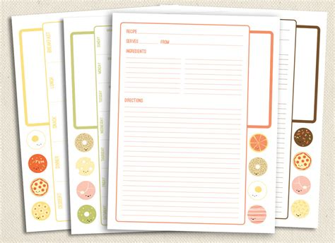 recipe binder templates 5 best images of printable recipe pages free printable