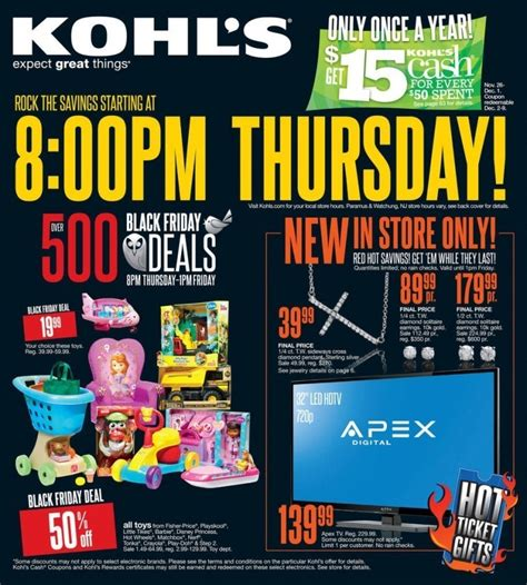 kohls black friday ad  black friday  ads  living rich  coupons