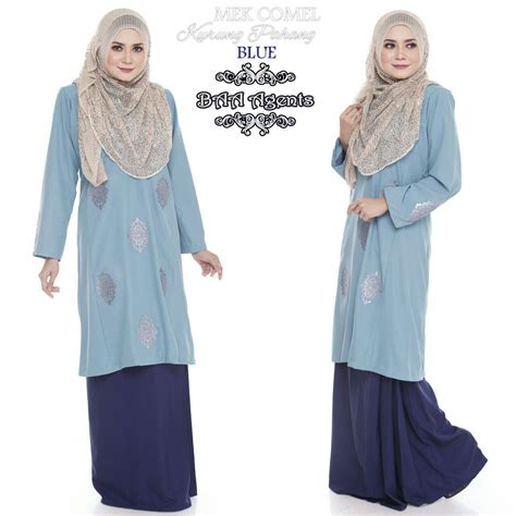 Baju Kurung Raya Sedondon tempahan ditutup baju kurung pahang crepe sedondon mek saeeda collections