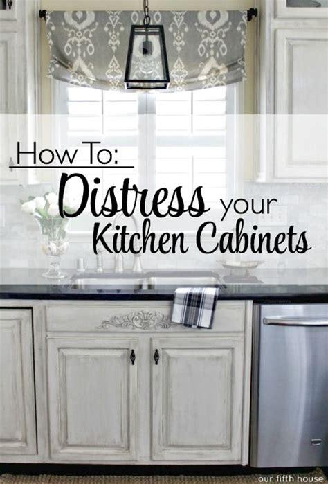 distressed kitchen cabinets   distress  kitchen
