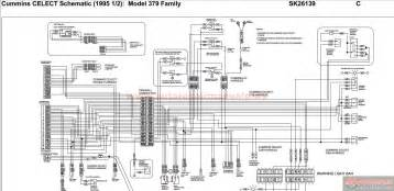 peterbilt pb379 cummins celect schematic 1995 12