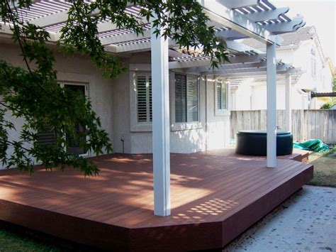 deck in backyard backyard decks this small backyard deck has a larg