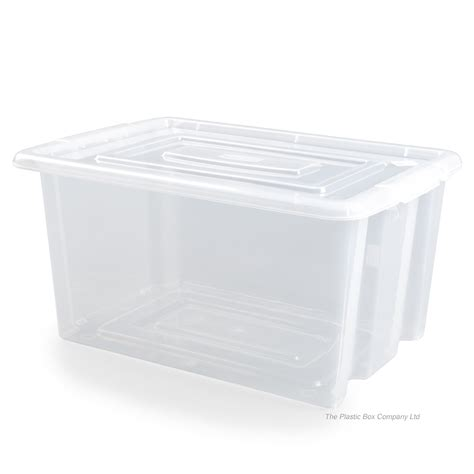 bathroom storage boxes with lids buy large 52lt stack and store plastic box lids