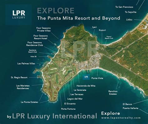 vallarta map of mexico map of punta mita mexico