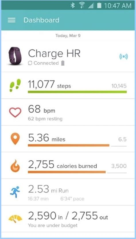 fitbit app for android top 7 best pedometer apps for android to count your steps daily