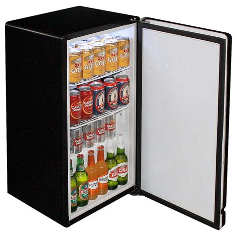 Bar Fridge Retro Black Bar Refrigerator Nostalgic Look With Col