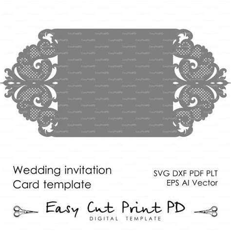 Free Wedding Gate Fold Card Template Silhouette by Wedding Invitation Pattern Card Template Lace от