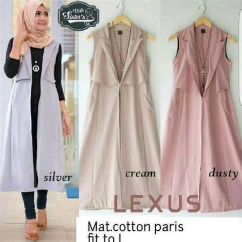 Q4 Baju Atasan Muslim Wanita Outer L Kode E6532 1 baju modern lexus outer grosir baju muslim