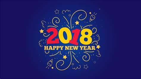 new year 2018 date animal new year 2018 desktop background 9to5animations