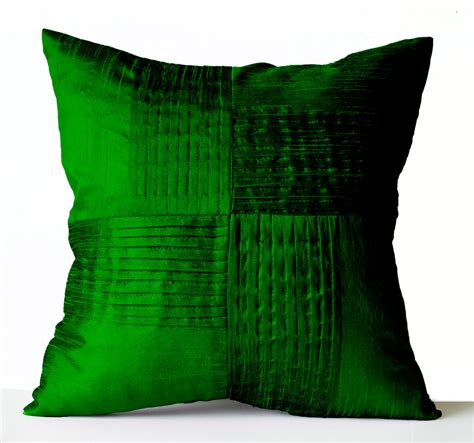 accent pillows for green throw pillow cover emerald green silk decorative pillow