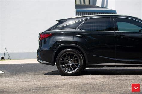 lexus dark custom wheels help this lexus rx transition to the dark