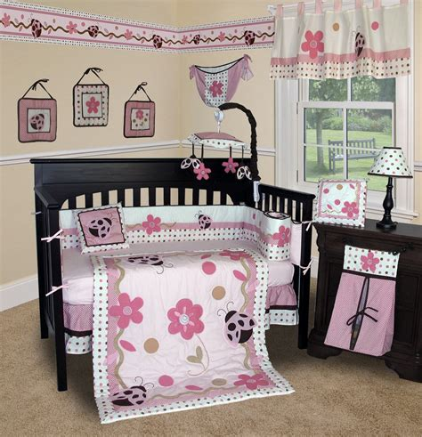 Babies Crib Bedding Set Baby Boutique Ladybug 13 Pcs Crib Bedding Set Ebay