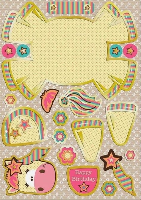 unicorn cute free printable paper toy oh my fiesta in