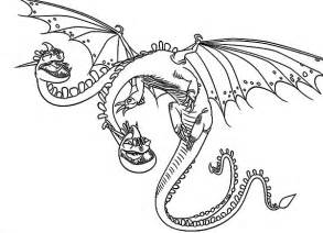 Heads Dragon In How To Train Your Coloring Pages Sky sketch template