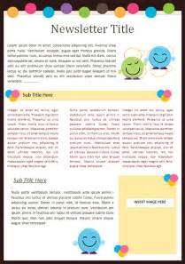 School Newsletters Templates by Kindergarten Newsletter Templates Free Formats Excel Word