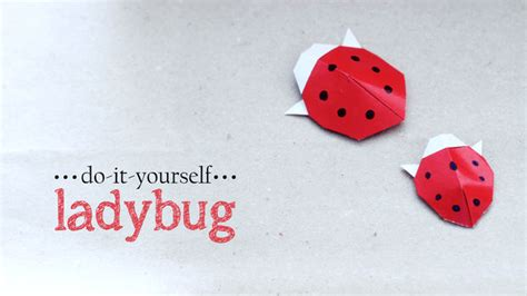 How To Make A Paper Ladybug - diy origami ladybug all