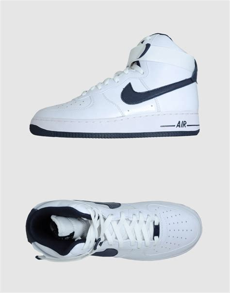 nike high top sneakers mens nike air 1 high top sneakers in white for lyst