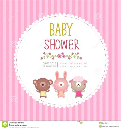 Welcome Home Baby Decorations by Mall F 246 R Baby Showerinbjudankort P 229 Rosa Bakgrund Vektor