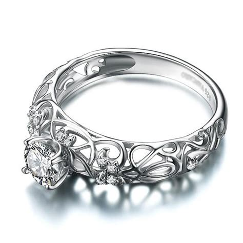 retro hollow 925 sterling silver engagement ring evermarker