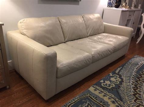 off white leather sofa off white leather sofa couch central regina regina mobile