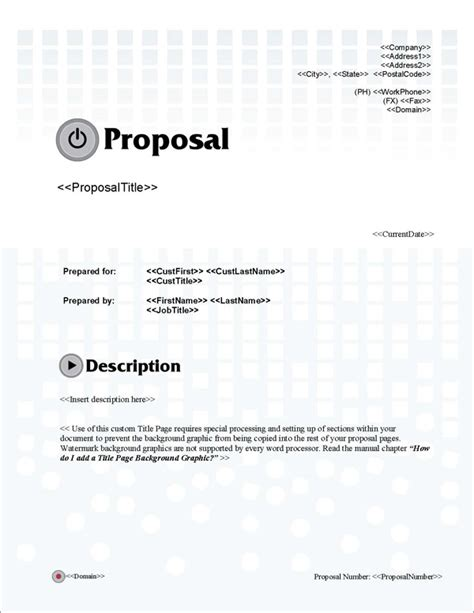 design proposal title proposal pack multimedia 3 software templates sles