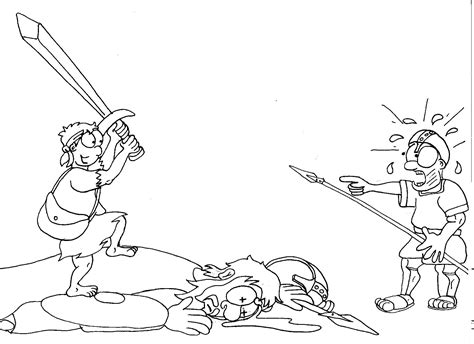 art the whole story 050028895x at f 09 david and goliath beheading line art 187 the whole story
