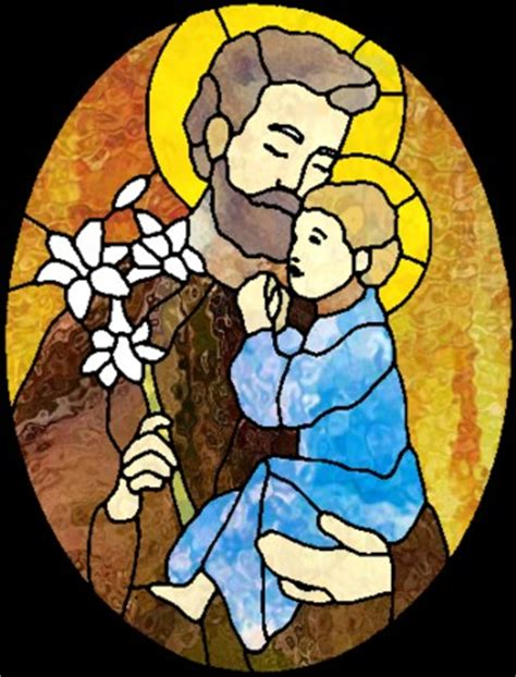 pattern energy st joseph stained glass pattern for saint joseph and baby jesus