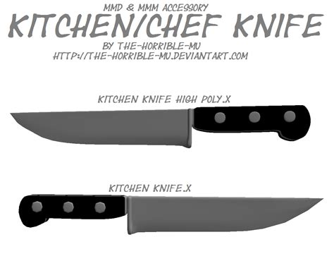 Where To Buy Kitchen Knives by Mmd M3 Accessory Kitchen Knife Dl By The Horrible Mu