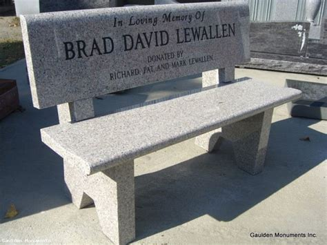 memorial park benches prices 18 best granite bench tombstone images on pinterest