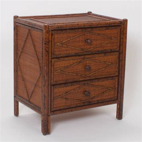 Bamboo Nightstand Pair Of Mid Century Faux Bamboo Nightstands At 1stdibs