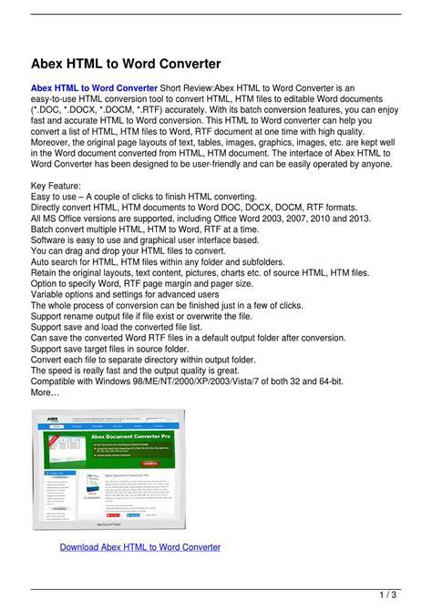 abex word to excel converter abex word abex html to word converter by bochiha mazdoucni issuu