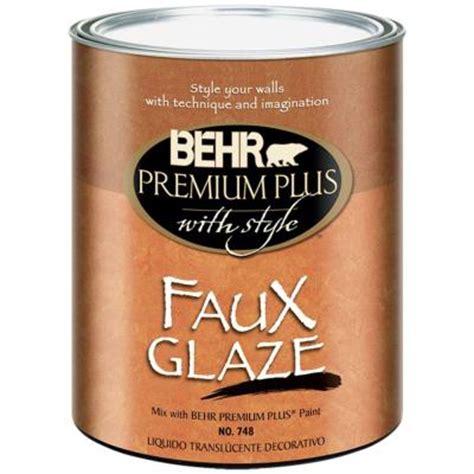 Behr Premium Plus 1 Qt Satin Faux Glaze 74804 The Home