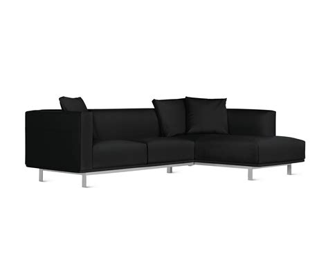 design within reach sectional bilsby sectional with chaise in leather right sofas by