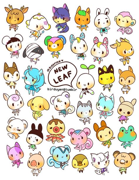 printable stickers of animals birduyen animal crossing new leaf stickers animal