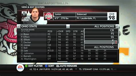 download updated 2015 2016 ncaa football rosters ps3 ncaa football 2016 roster update ncaa football 14 xbox