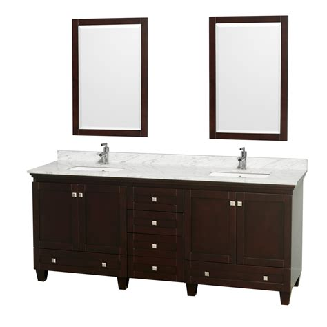 80 Inch Bathroom Vanity Wyndham Collection Wcv800080descmunsm24 Acclaim 80 Inch Bathroom Vanity In Espresso
