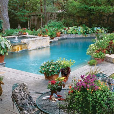 garden with pool home design inside