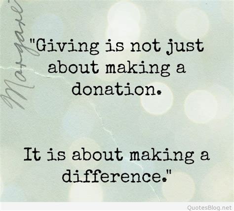 Not Just A by Giving Is Not Just About A Donation