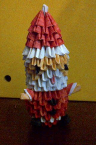 3d origami santa claus by luvyen101 on deviantart