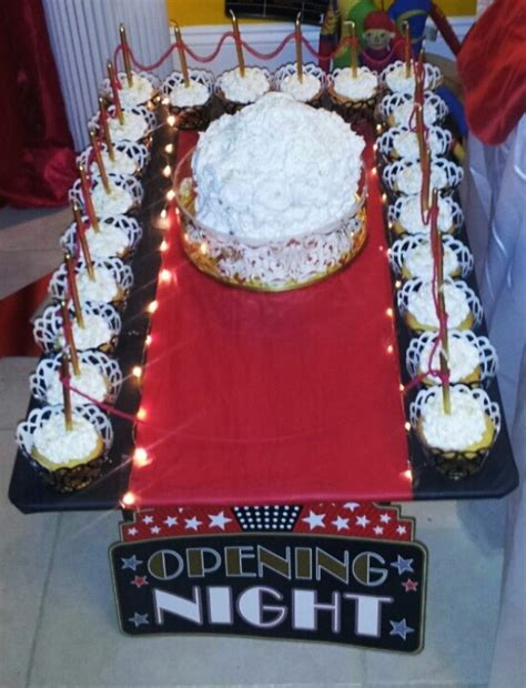 red carpet themed birthday party red carpet birthday themed cupcakes birthday party ideas