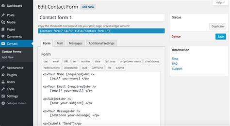 how to add a contact form to your blog wordpress