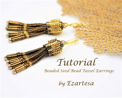 beaded tassel tutorial beaded tassel earrings tutorial beaded seed bead tassel