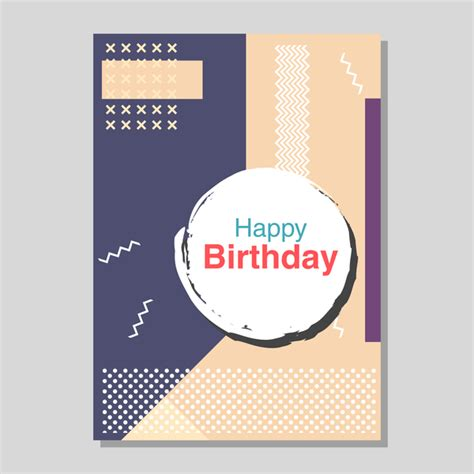 happy birthday flyer and brochure cover template vector 17
