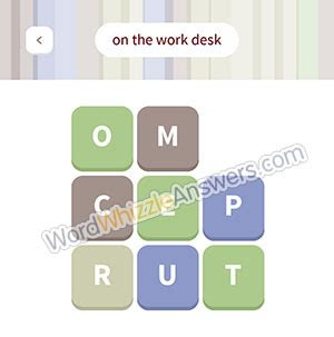 on your desk word whizzle word whizzle level 70 answers king