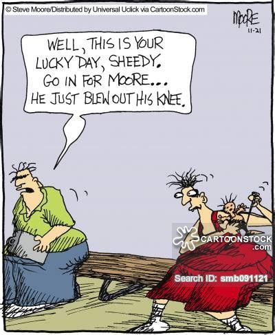 Basketball Player On Bench by Knee Injury Cartoons And Comics Funny Pictures From
