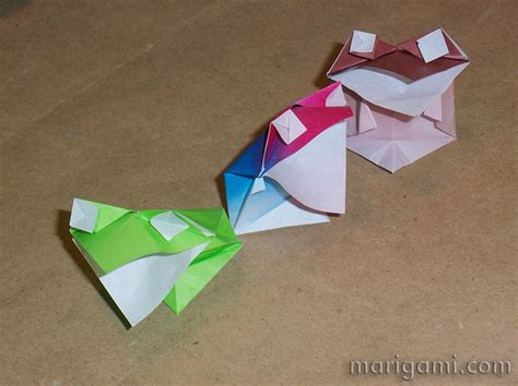 Origami Talking Frog - gallery favorite origami models folded by mari