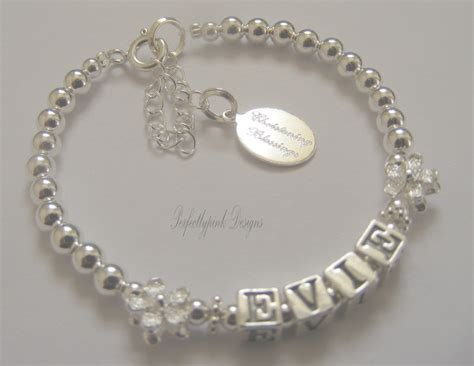 baby personalised christening bracelet any name