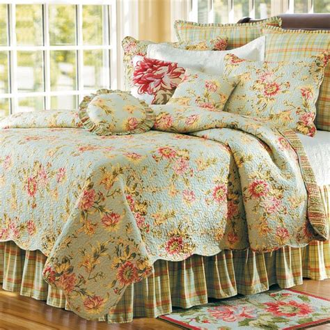 april cornell bedding music sage floral quilt bedding by april cornell