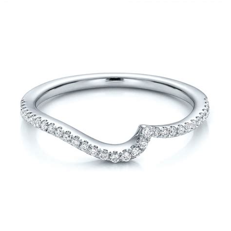 Wedding Bands Curved by Contemporary Curved Shared Prong Wedding Band