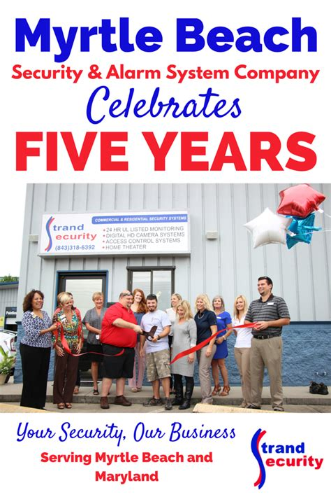 myrtle security and alarm system company celebrates